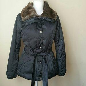 Weekend MaxMara faux fur warm puffer jacket sz 2